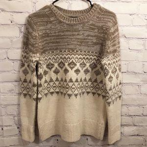 Banana Republic tan and cream sweater